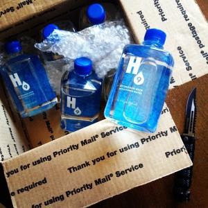 H9 bottles in a box